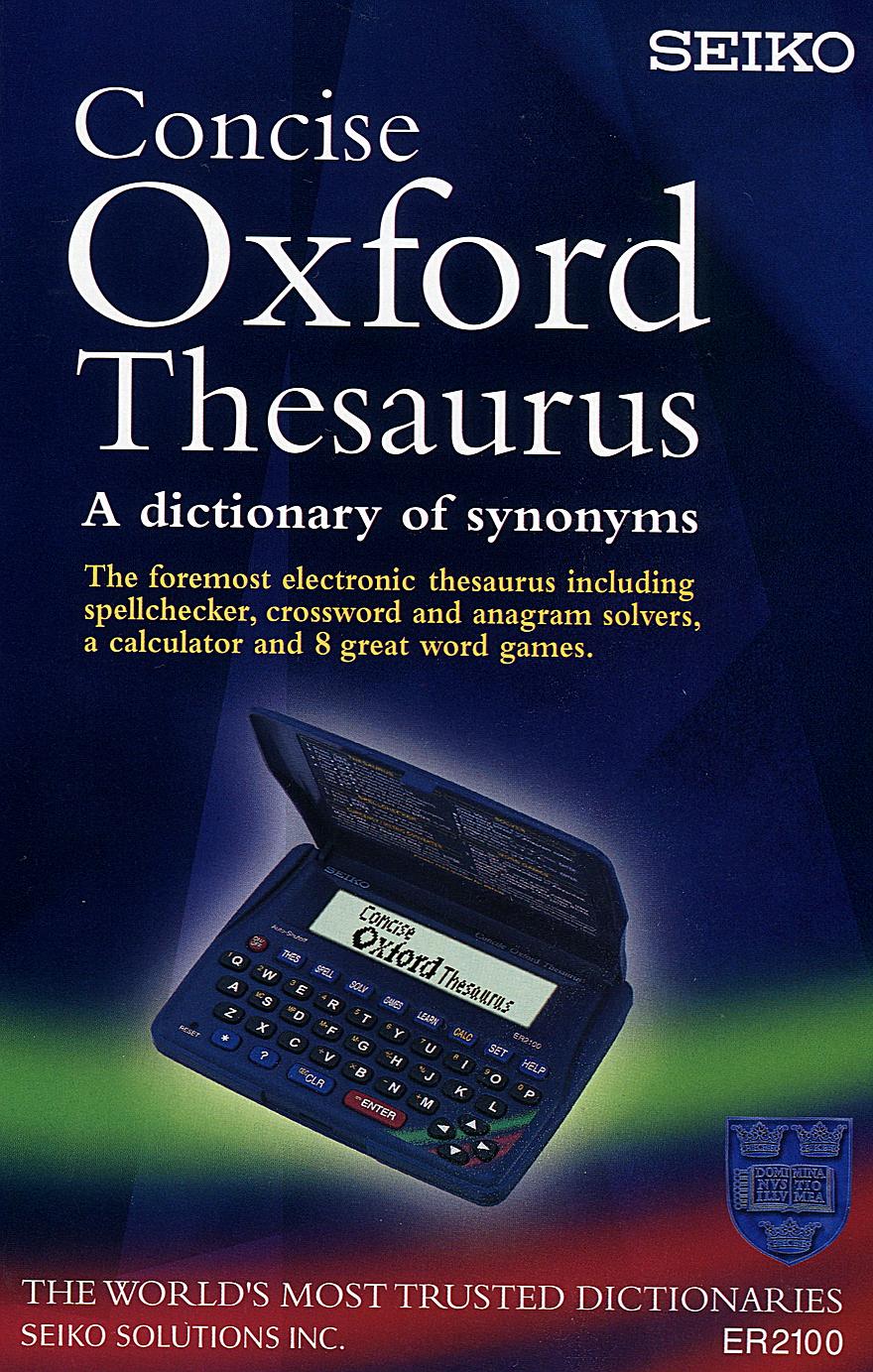 Seiko ER-2100 Concise Oxford Thesaurus and Spellchecker.