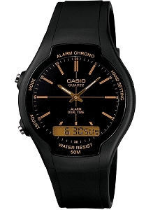 Casio Analogue Digital Watch AW-90H-9EVEF