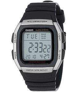 Casio Digital Watch Illuminator W-96H-1AVES