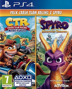 Crash Team Racing Nitro Fueled & Spyro Reignited Trilogy PS4 Game Bundle