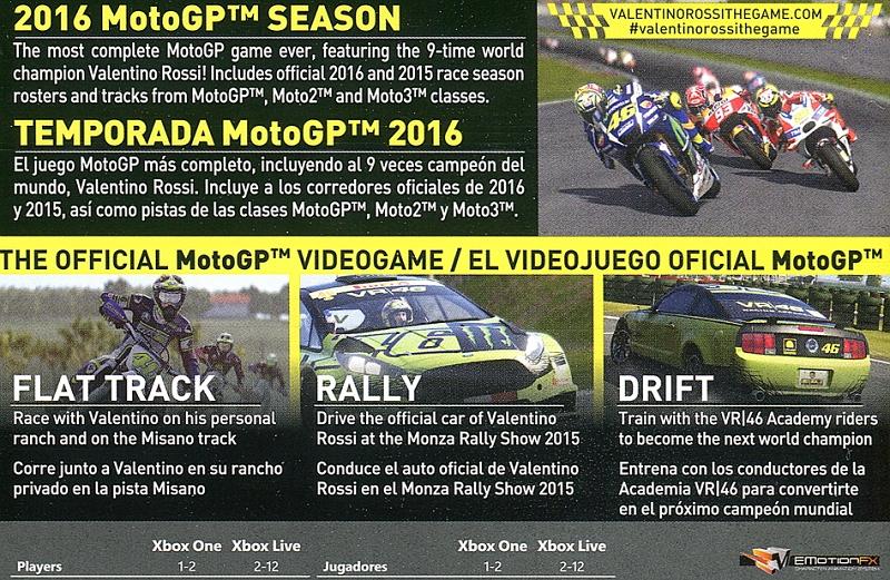 Valentino Rossi MotoGP 16 Xbox One