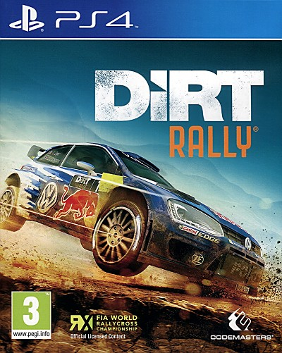 Dirt Rally PS4 Cover Art