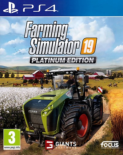 Farming Simulator 19 Platinum PS4 Cover Art