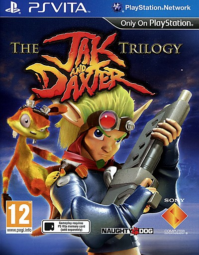 Jak and Daxter Trilogy PSVita Cover Art
