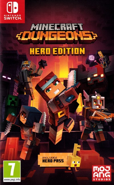 Minecraft Dungeons Hero Edition Switch Cover Art