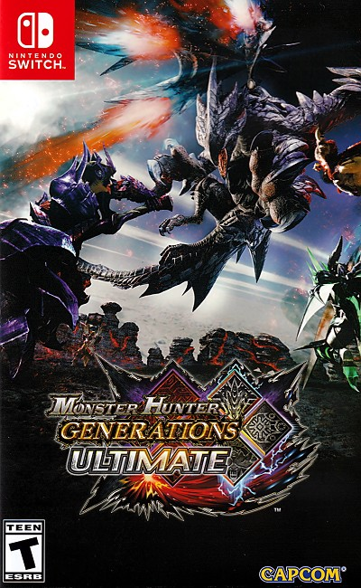 Monster Hunter Generations Ultimate Switch Cover Artwork