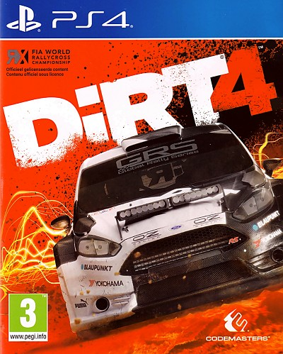 Dirt 4 PS4 Cover Art