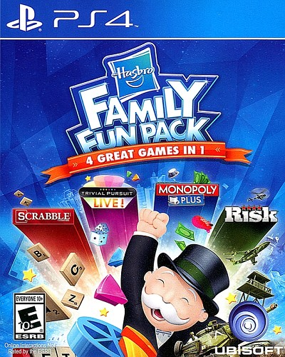 Hasbro Family Fun Pack PS4 Cover Art