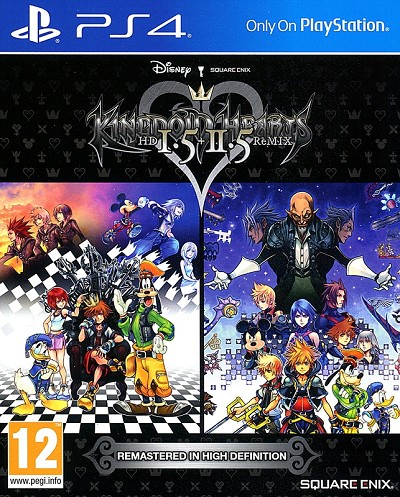 Kingdom Hearts HD 1.5 + 2.5 Remix PS4 Cover Art