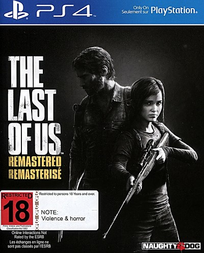 Last of Us Remastered PS4 Cover Art
