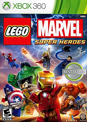 Lego Marvel Super Heroes Xbox 360 Cover Artwork