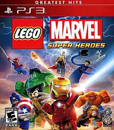 Lego Marvel Super Heroes PS3 *Greatest Hits*  Cover Artwork