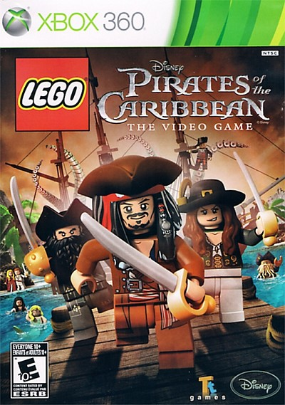 Lego Pirates of the Caribbean The Video Game Xbox 360 Cover Artwork