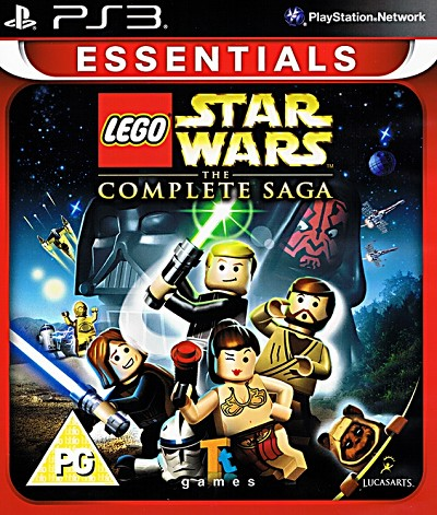 Lego Star Wars The Complete Saga PS3 Essentials Cover Artwork