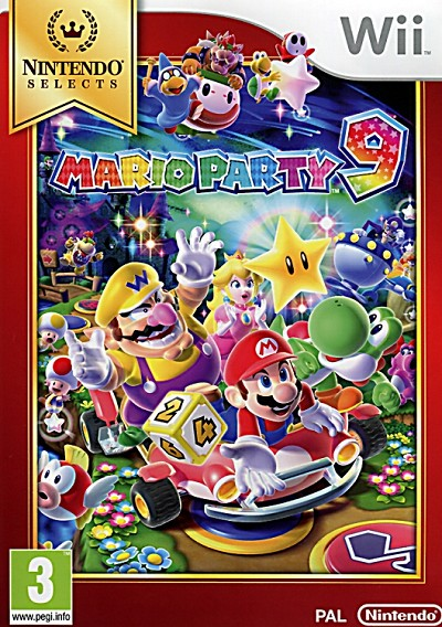 Mario Party 9 Nintendo Selects Wii Cover Artwork