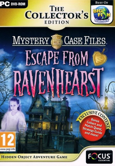 Mystery Case Files Escape from Ravenhearst Collector's Edition Cover Artwork