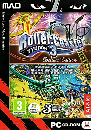 Roller Coaster Tycoon 3 Deluxe Edition Cover Artwork