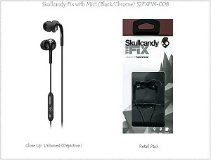 Skullcandy Fix Earbuds with Mic1 (Black/Chrome)