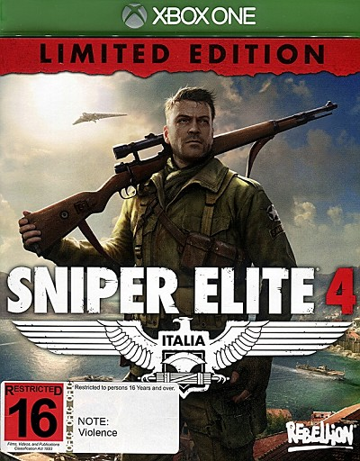 Sniper Elite 4 Xbox One Limited Edition Cover Art