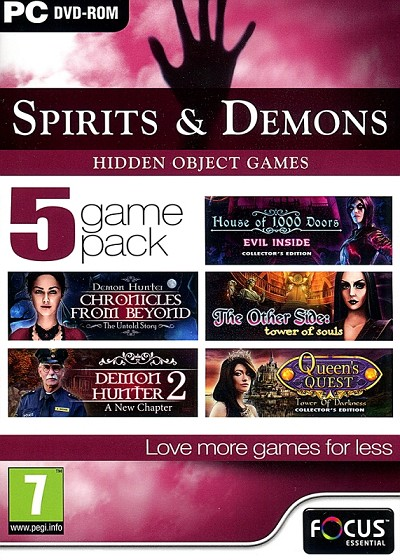 Spirits & Demons 5 Game Pack Front Cover Art