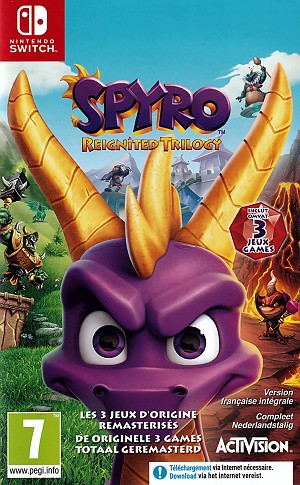 Spyro Reignited Trilogy Switch Cover Art EU French
