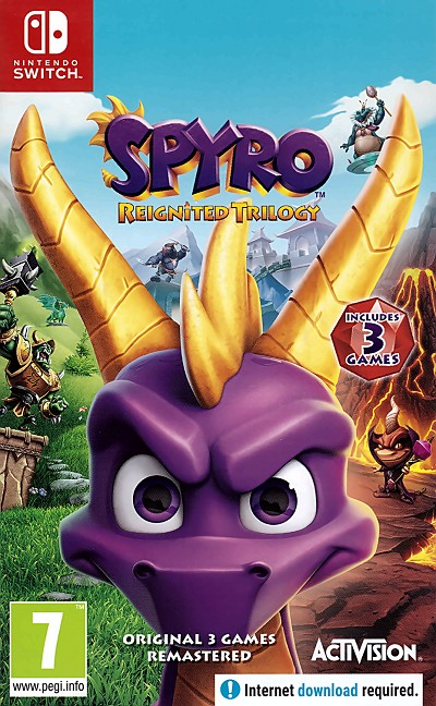 Spyro Reignited Trilogy Switch Cover Art