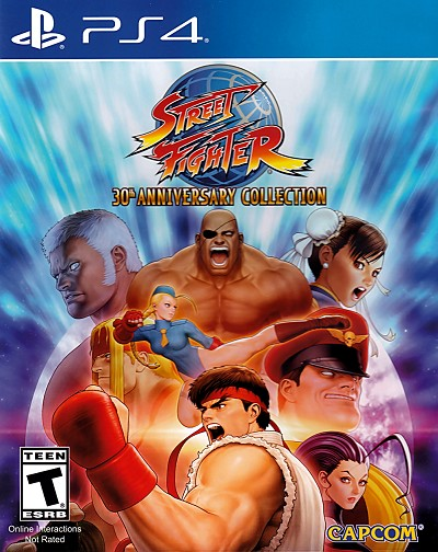 Street Fighter 30th Anniversary Collection PS4 Cover Art