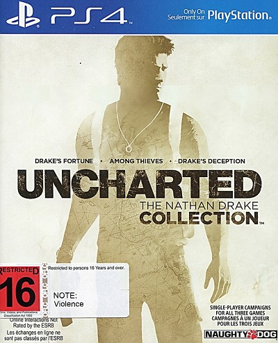 Uncharted Nathan Drake Collection PS4 Cover Art