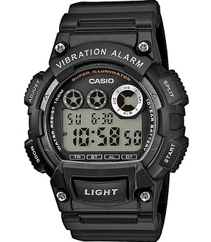 Casio Digital Watch Super Illuminator Vibration Alarm W-735H-1AVEF